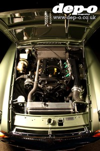 Twin-cam installed for optimum weight distribution