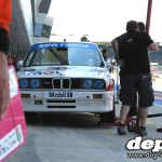 Silverstone Classic: Touring Car E30 BMW M3 pits