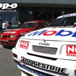 Silverstone Classic: Renault Laguna plus Ford Sierra RS500 Cosworth pair