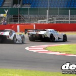 Silverstone Classic: Group C Sauber Mercedes C9 with Martini Lancia LC2