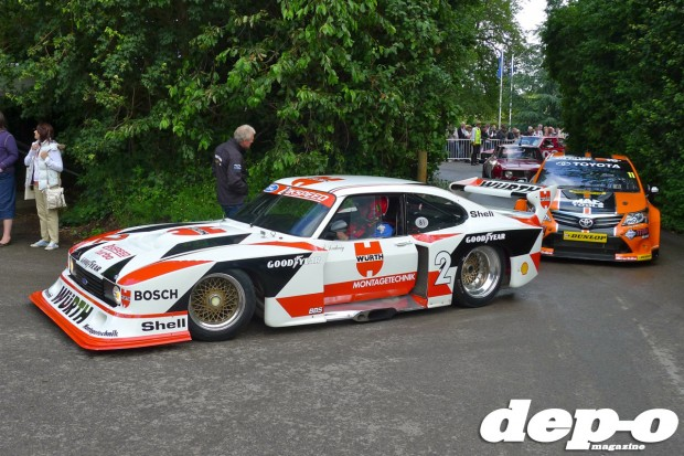 Klaus Ludwig Zakspeed Ford Capri at Goodwood Festival of Speed 2012
