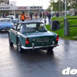 Triumph TR4A with Surrey top at the Goodwood Breakfast Club