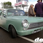 MkI Ford Cortina with pre-Aeroflow front at the Goodwood Breakfast Club