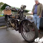 Ye olde motorcycle at the Goodwood Breakfast Club