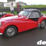 Triumph TR3A at the Goodwood Breakfast Club