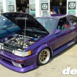 Highly modified Toyota Corolla Levin at the Retro Toyota Gathering 2012