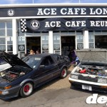 AE86s Outside Ace Cafe at the Retro Toyota Gathering 2012
