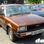Brown Corolla saloon at the Retro Toyota Gathering 2012