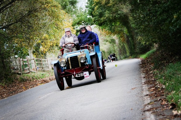 ^ Cars glided their way through the Sussex countryside
